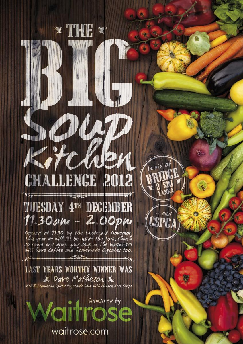 Soup Kitchen Tuesday 4th December 2912 at the Town Church in Guernsey with the GSPCA and Bridge2Sri Lanka