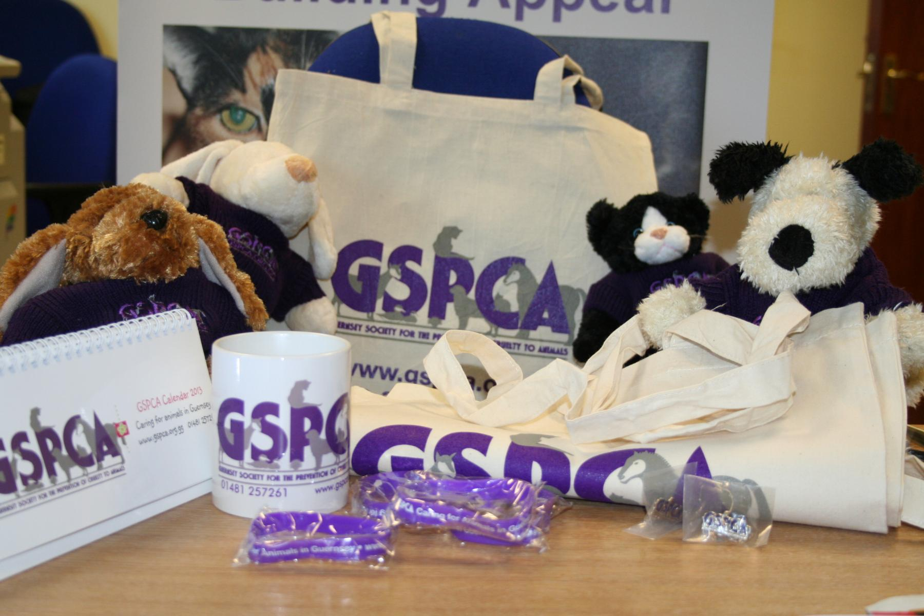 GSPCA Christmas goods on sale at the Late Night Shopping in St Peter Port Guernsey